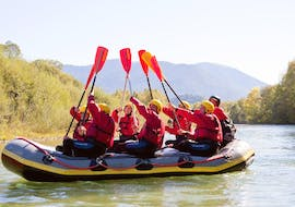 During the Rafting for Families on the Isar river with Montevia, the participants of the tour are having a great time together with their loved ones.