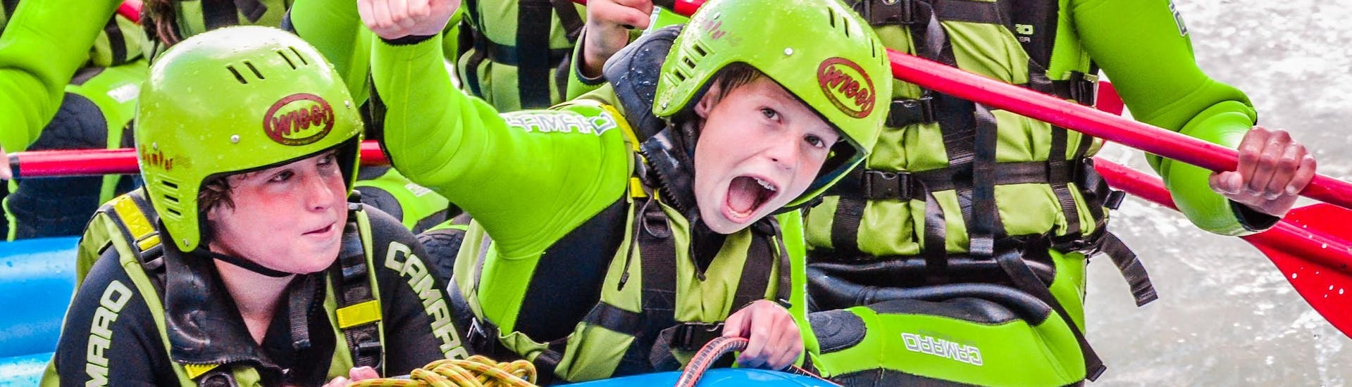 Rafting in the Imster Schlucht for Kids