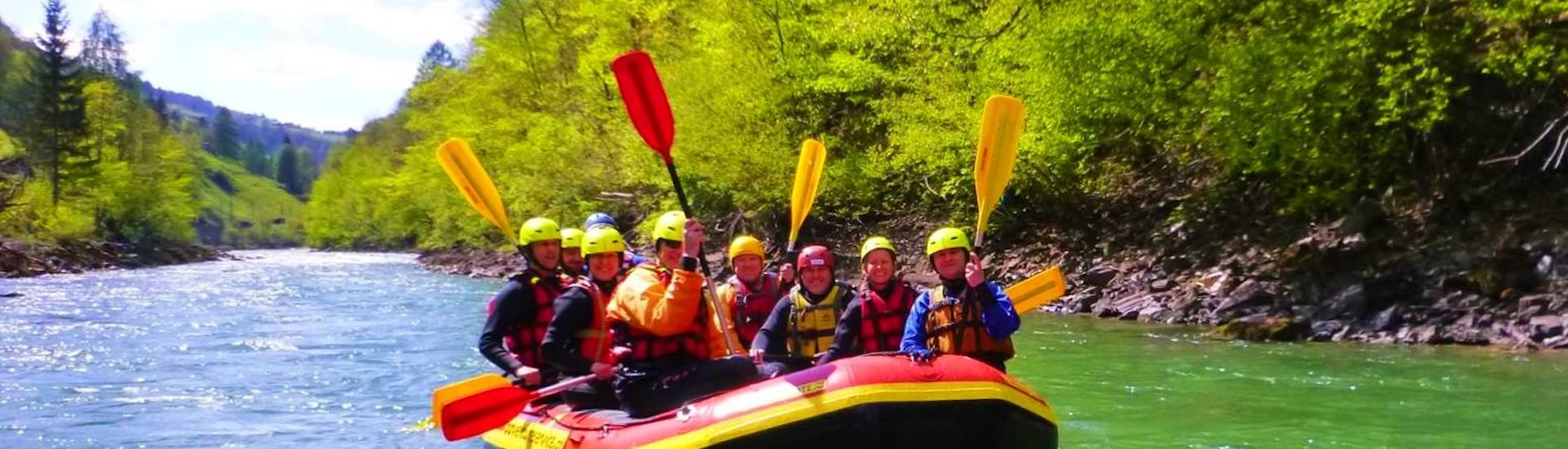 Rafting on the Saalach River for Families
