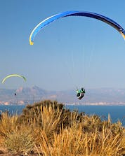 A beautiful photo from a starting point of a flight in santa-pola for paragliding.