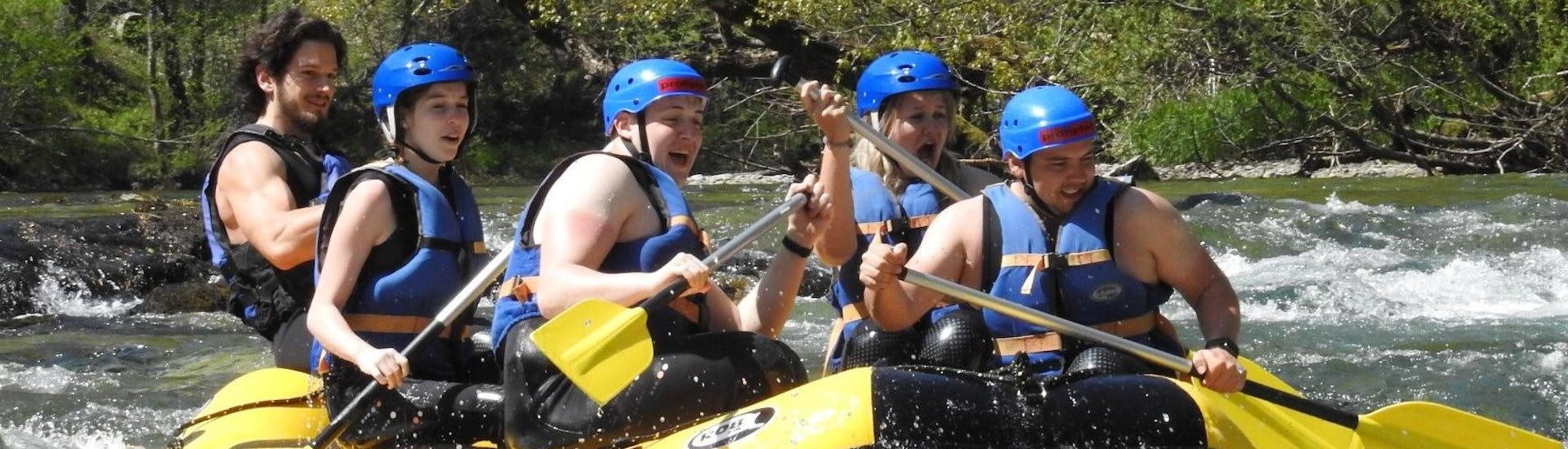 """Participants of the Rafting """"Bachelor Party"""" - Kupa organized by Rafting Gorski Tok are having fun on the river"""