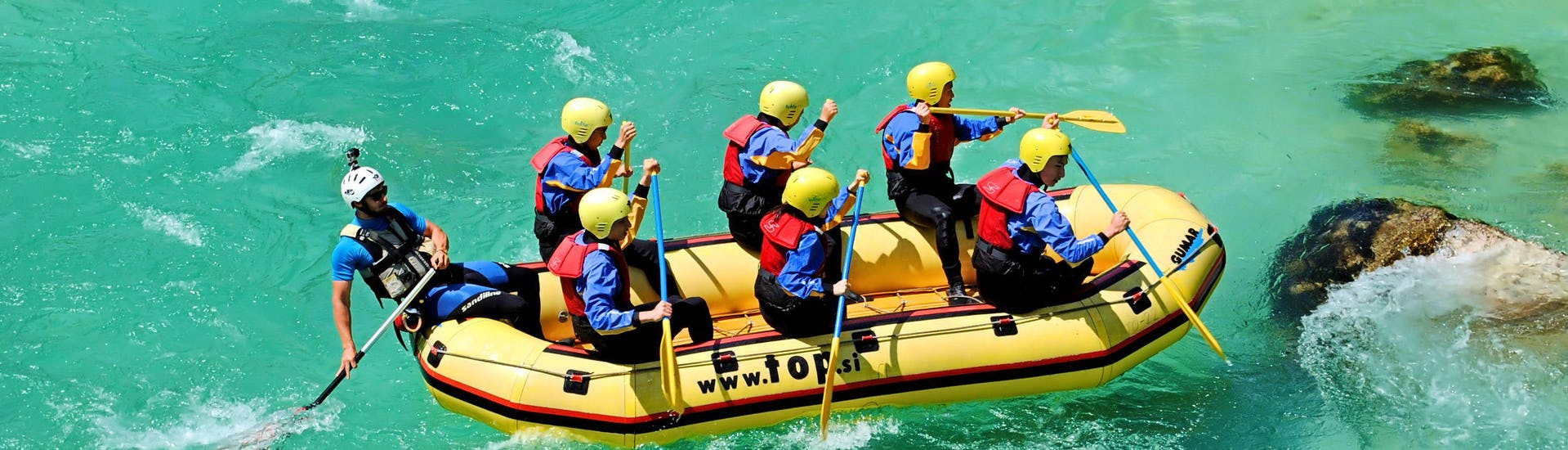 """Rafting """"Standard"""" for Groups (from 8 people) - Soča"""