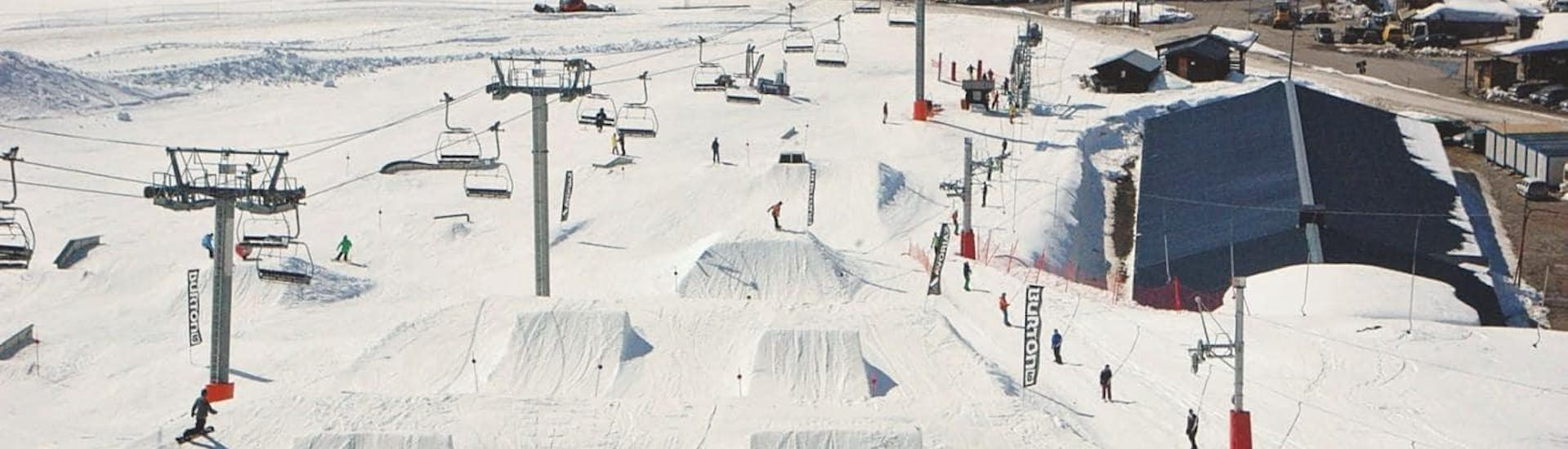 A view of the slopes in the Swiss ski resort Champéry where the ski school Red Carpet Champéry offer ski lessons.