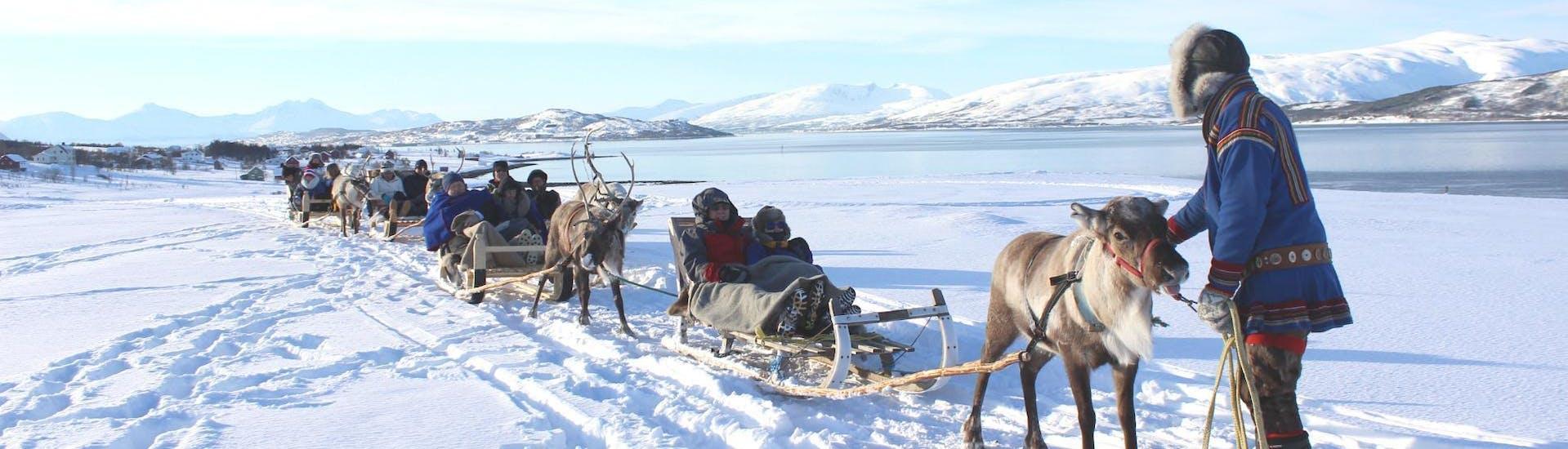 People are enjoying the Reindeer Sledding in Tromsø & Sami Culture - Afternoon organised by Tromsø Arctic Reindeer.