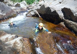 River trekking in Canyon de la Dourbie for Families