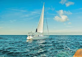During a sailing cruise provided by Angel Sailing Santorini holidaymakers are able to visit all the hotspots of the popular Greek island.