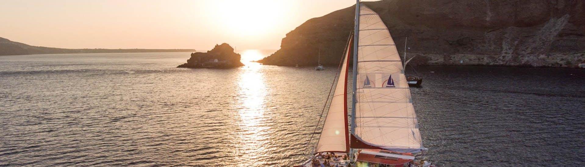 Catamaran Tour to the Red Beach at Sunset