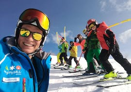 Children taking part in one of the Enjoyski school Valmalenco Kids Ski Lessons (5-12 y.) for all Levels - Weekend.
