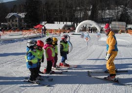 Children with the Instructor during Ski Lessons for Kids (from 5 years)