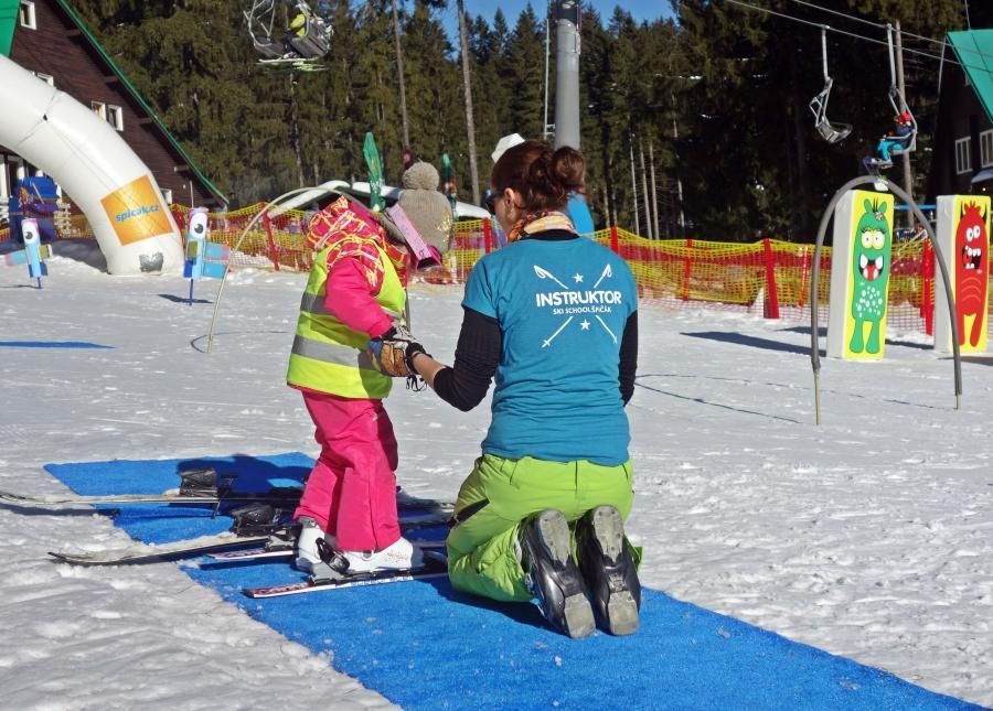 Lezioni private di sci per bambini a partire da 3 anni principianti assoluti