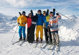 adults pose for the photo for the Freeride-Freestyle Group - All Levels