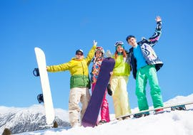 Snowboard Lessons for Kids - All Levels