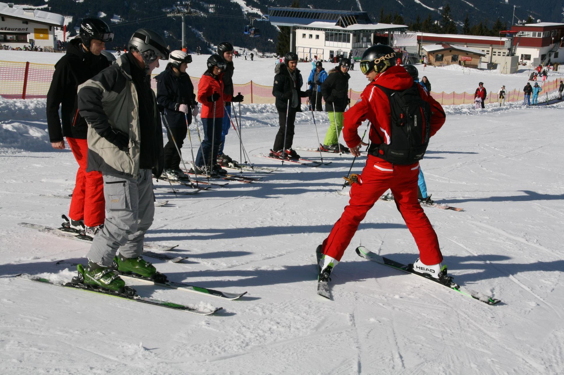 Volwassen skilessen voor beginners