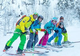 Kids are doing Kids Ski Lessons (6-14 y.) for All Levels with Evolution 2 La Clusaz.