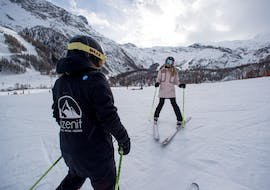 Private Ski Lessons for Adults for Beginners with Ski school Ski Zenit Saas-Fee