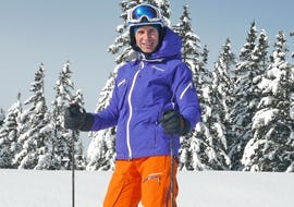 Skiing with private guide