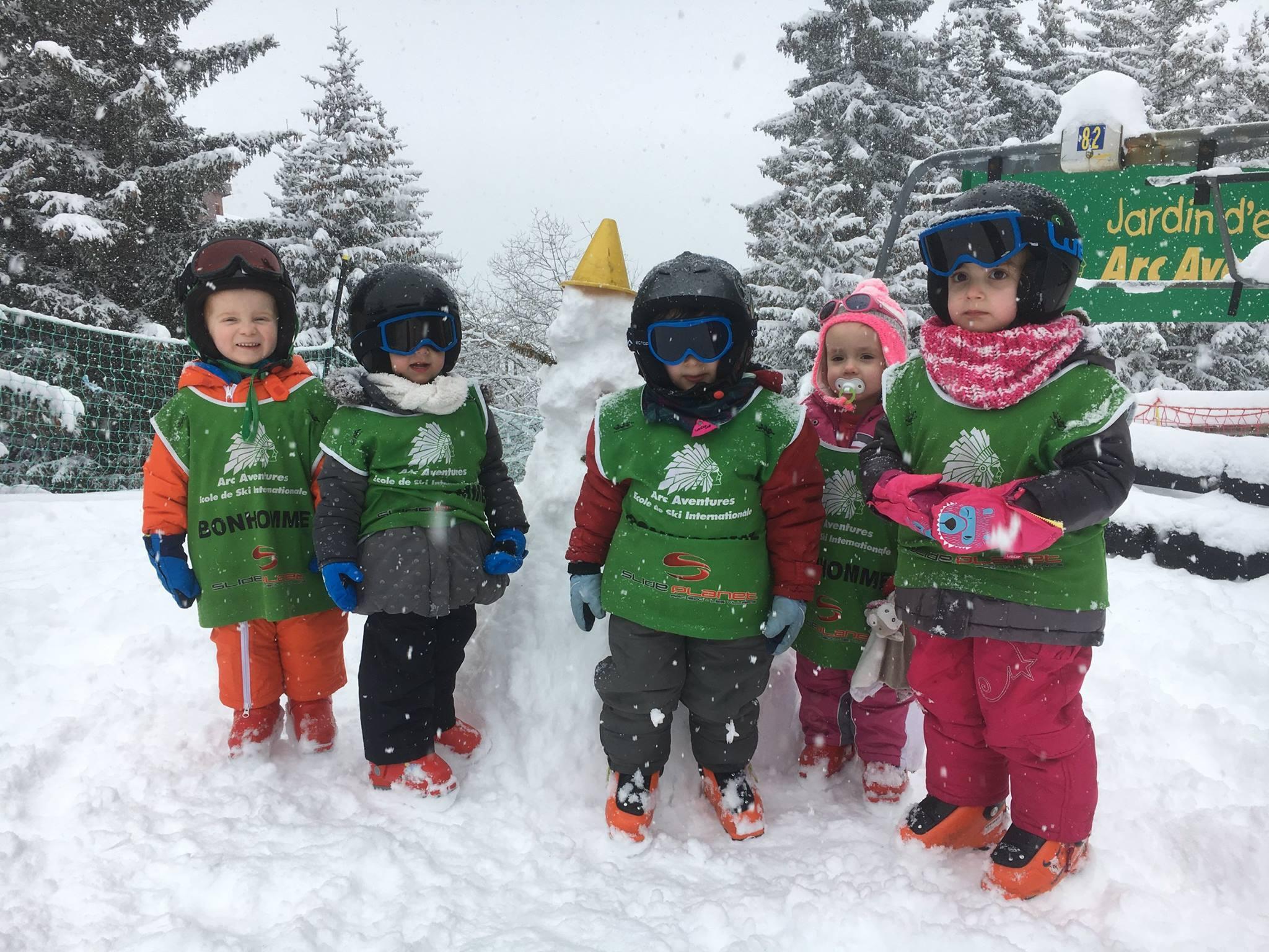 Cours de ski Enfants (3-4 ans) - Matin - Arc 1800