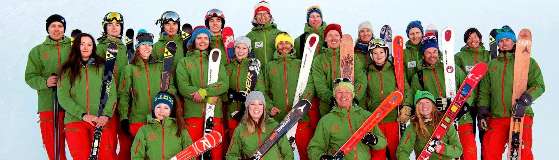 Group of ski instructors of Skischule A-Z