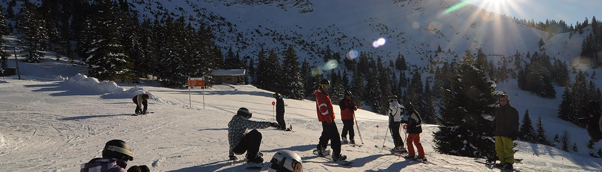 Kids Snowboarding Lessons (7-12 y.) for All Levels with Ski & Snowboard School Ostrachtal - Hero image