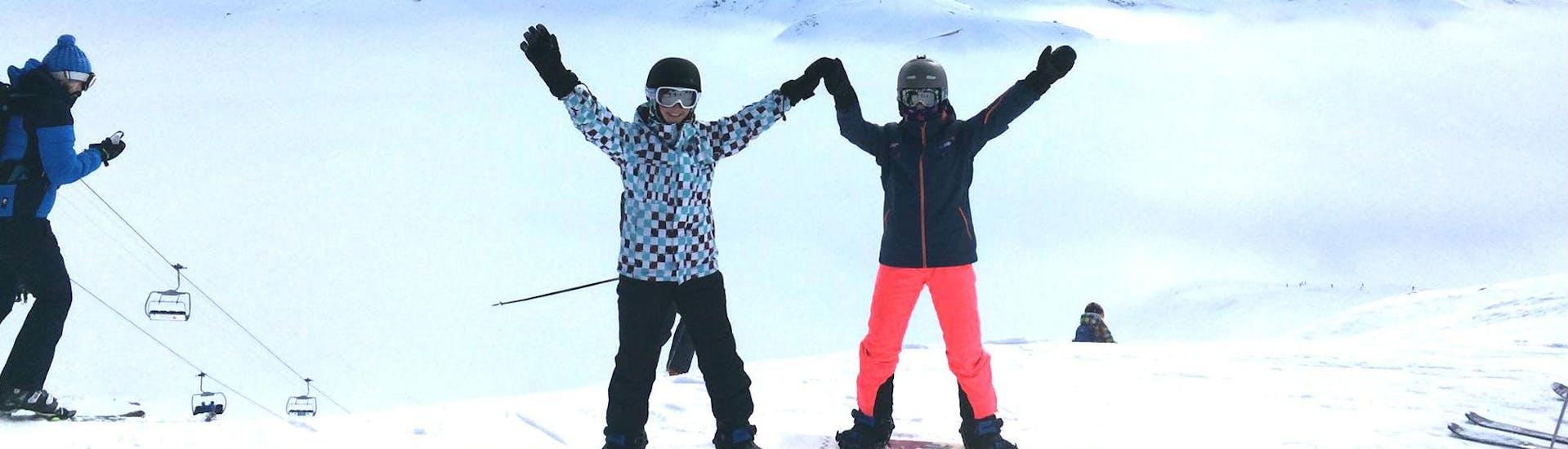 Curso de snowboard a partir de 8 años para principiantes
