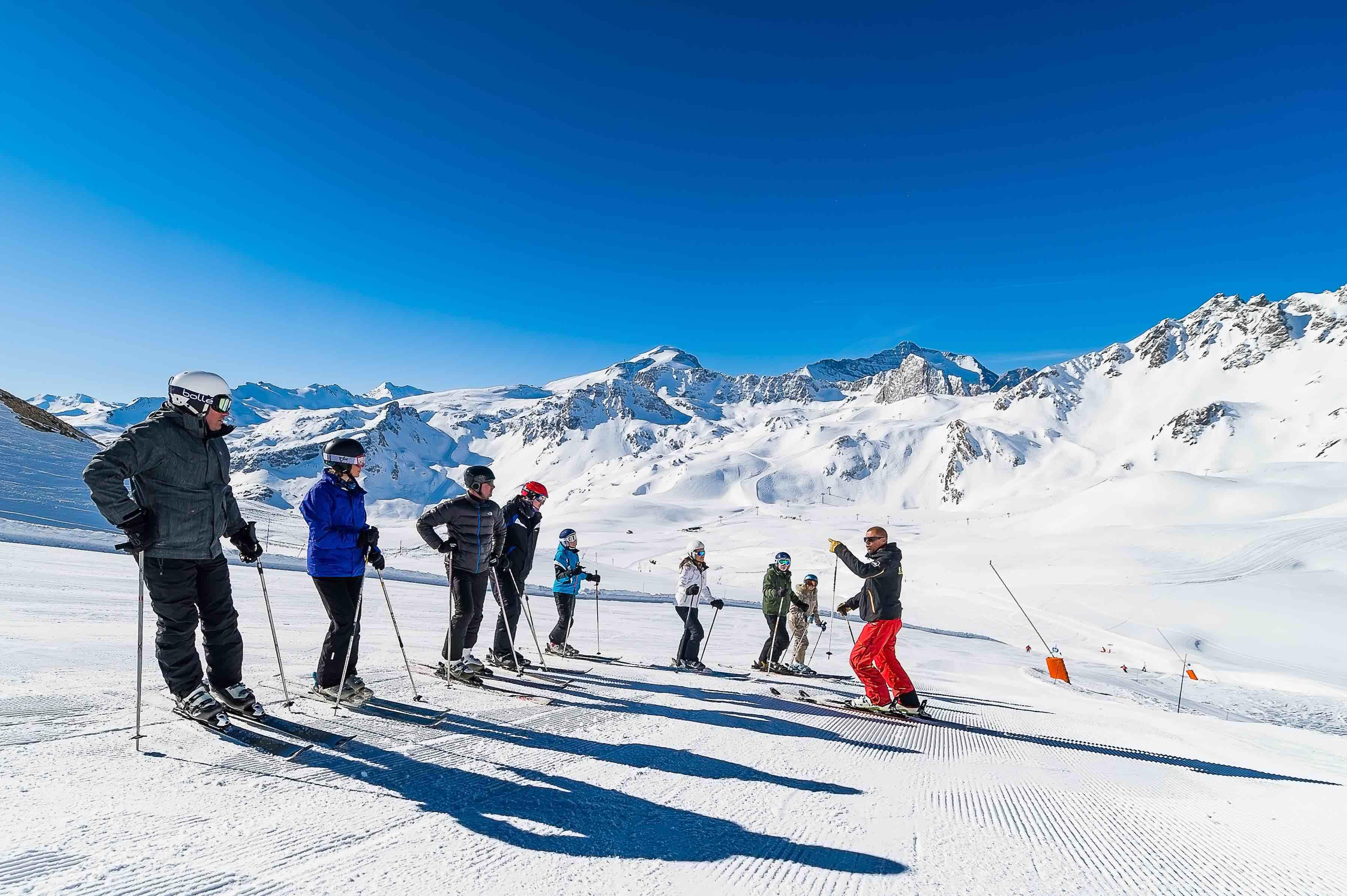 Clases de esquí para adultos a partir de 14 años para principiantes