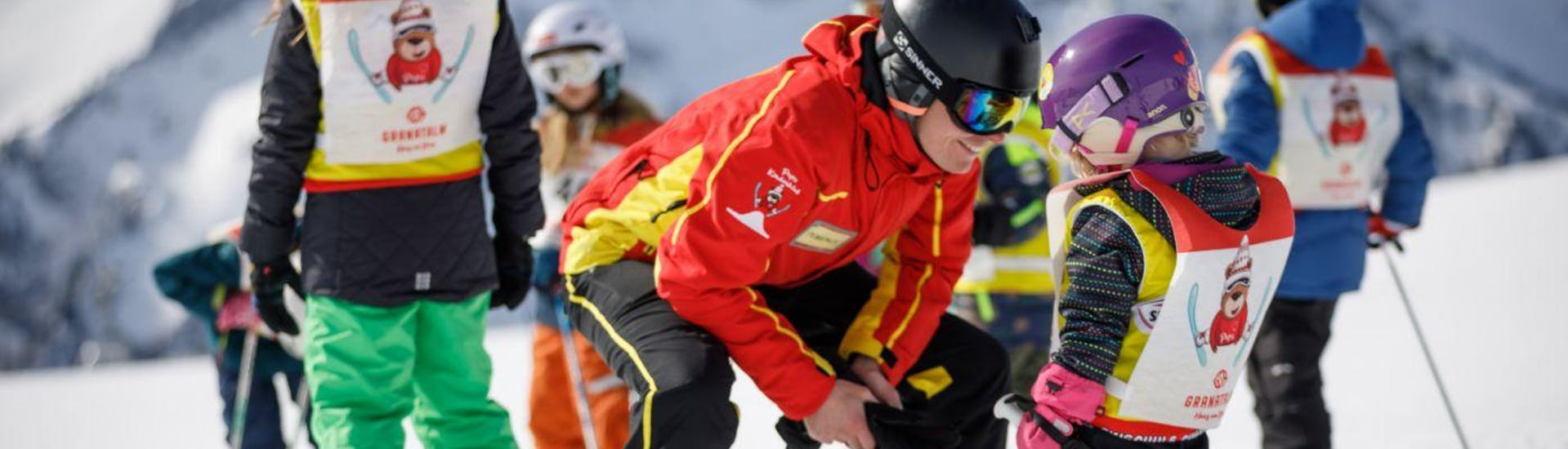 Kids Ski Lessons (4-14 y.) for Beginners with Skischule Sunny Finkenberg - Hero image