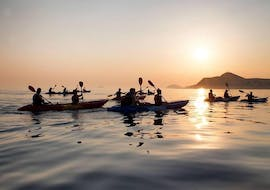 Sunset Sea Kayaking to Lokrum Island in Dubrovnik
