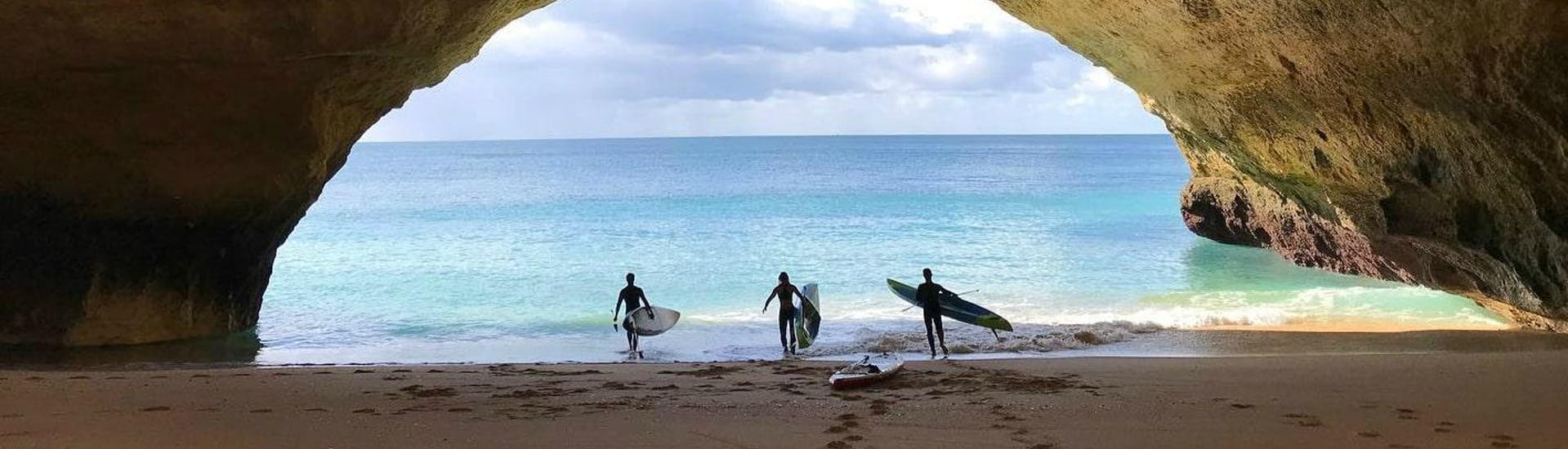 Guided Stand Up Paddle Tour along the Albufeira Coast