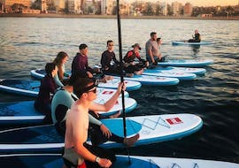 A group of friends got their stand up paddle boarding rental in Valencia to enjoy the afternoon on the Mediterranean Sea thanks to Anywhere Watersports.