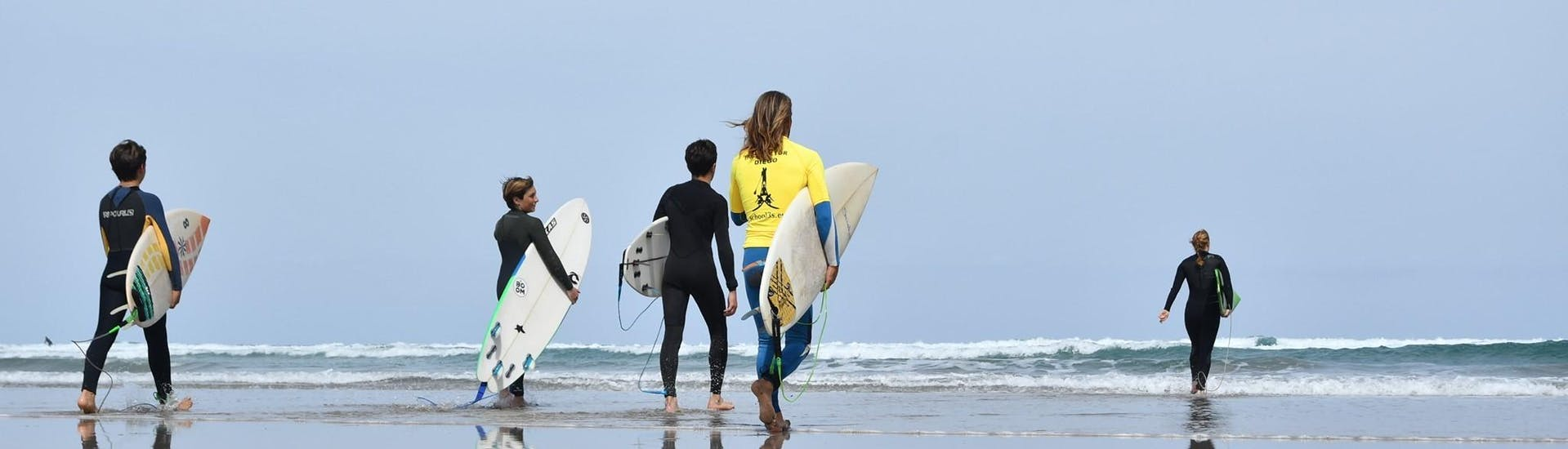 Surfing Lessons (from 10 y.) on Famara Beach with Surf & SUP School3S Lanzarote - Hero image