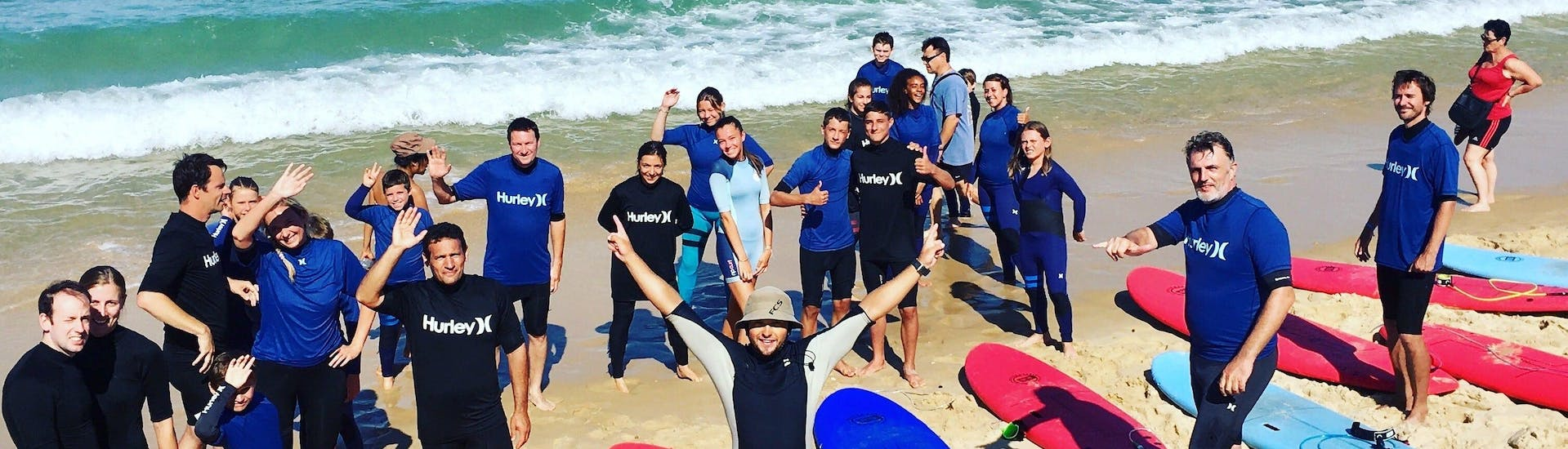 Surfing Lessons (from 11 y.) on Lacanau Centrale Beach