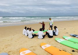 A group of children is participating to the Surfing Lessons for All Levels from 8 years with It's On Surf School.