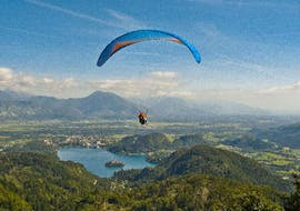 Tandem Paragliding above Lake Bled