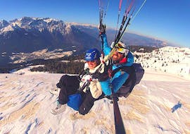 Tandem Paragliding in Andalo - Winter