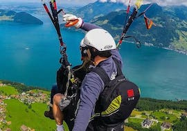 Tandem Paragliding from the Niederbauen - View