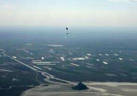"An amazing landscape from the activity Tandem Paragliding ""Mont Saint-Michel"" - Normandie with Parapente Mania."