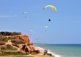 While Tandem Paragliding at Praia da Falésia with Flytrip, you can enjoy a wonderful view of one of Portugal's most beautiful beaches.