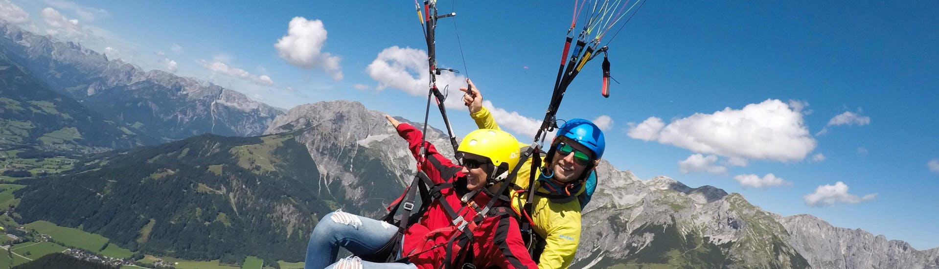 Classic Tandem Paragliding from Bischling in Werfenweng