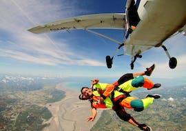Tandem Skydive above Mont Saint-Michel from 3000m with Abeille Parachutisme Normandie
