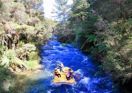 During Tarawera River Rafting in Kawerau with Rafting Adventure Rotorua, participants pass through the lush Tarawera forest and spectacular nature.