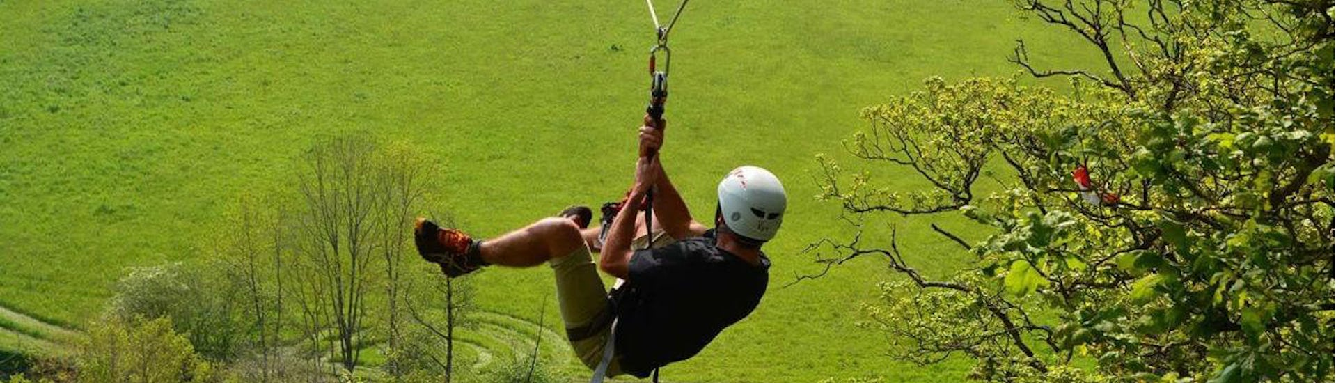 "Zipline ""400m"" over the Orne river - Clécy"