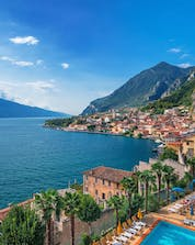 A view of Limone sul Garda, a popular place for water sports at Lake Garda.