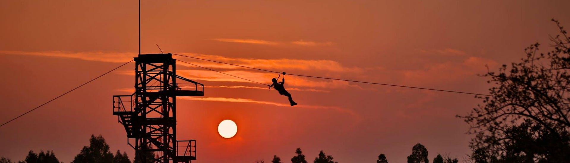 Ziplining near Pretoria in Cullinan