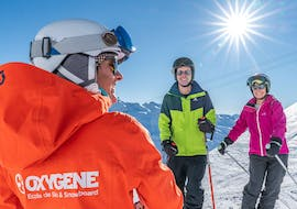Adults  are taking Private Ski Lessons for Adults - February with Starski Grand Bornand.
