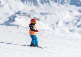 A kid is taking Private Ski Lessons for Kids - February with Starski Grand Bornand.