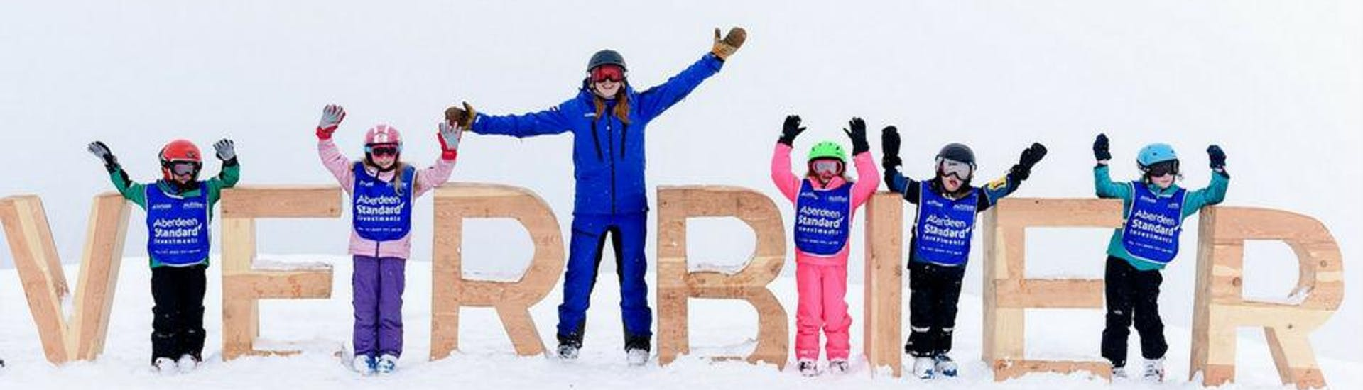Kids Ski Lessons (6-15 y.) for All Levels met Altitude Ski School Verbier & Gstaad - Hero image