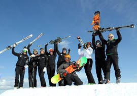 Cours de snowboard pour Tous niveaux avec Ski School Top Ski Piculin San Vigilio