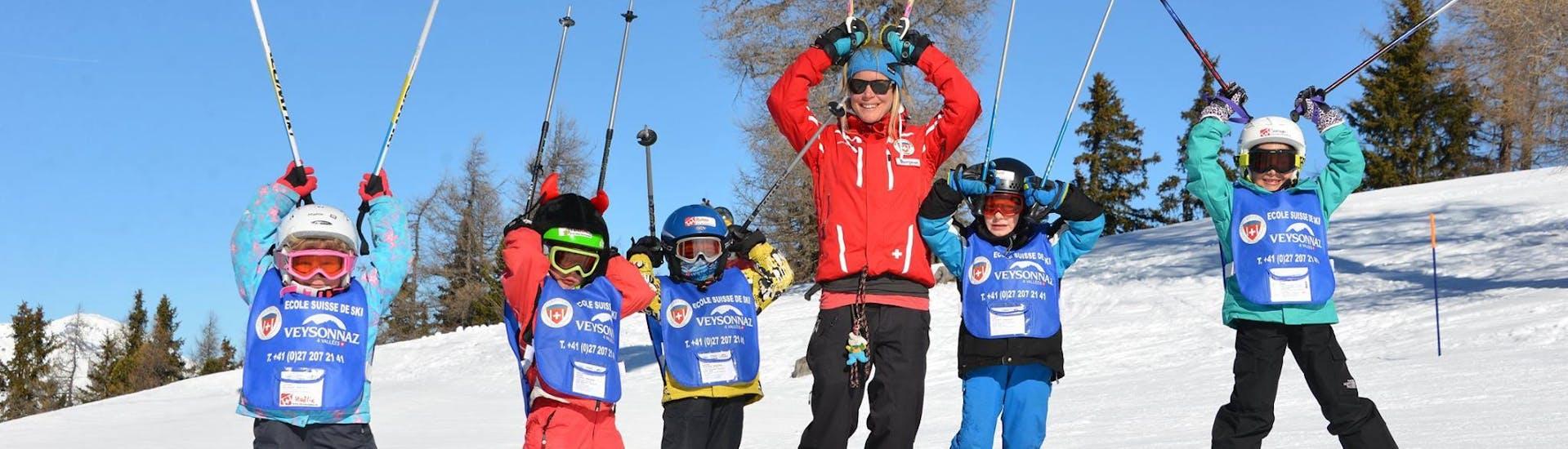 Premier Cours de ski Enfants (6-12 ans) - Journée avec École Suisse de Ski de Veysonnaz - Hero image