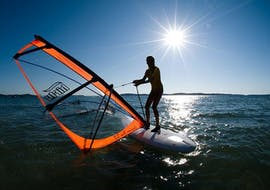 Advanced Windsurfing Lessons (from 8 y.) at Školjić Beach with Windsurf Station Premantura