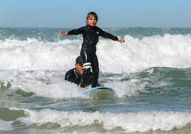 Surfing Lessons for Kids (4-10 y.) on Lacanau Centrale Beach with Ocean Experience Lacanau Surf School